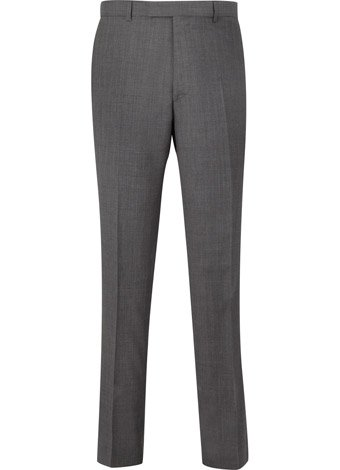 Austin Reed Contemporary Fit Sharp Grey Trousers SHORT MENS 34