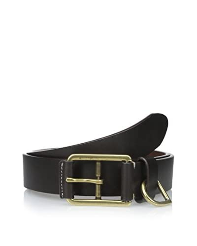 J.McLaughlin Men's Double Buckle Leather Belt