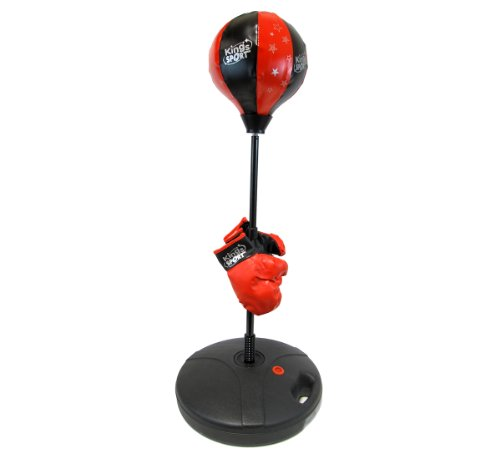 Pro-Kid-Boxer-Childrens-Beginning-Freestanding-Reflex-Punching-Bag-w-Pair-of-Gloves-Adjustable-Height-48