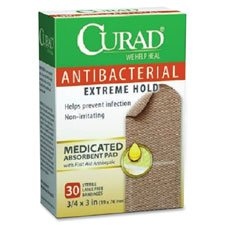 Antibacterial Bandages,Curad,Strong Strip,3/4\