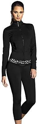 Adriana Arango Women's Yoga Wear Running Set Jacket Top Pants Black L #154