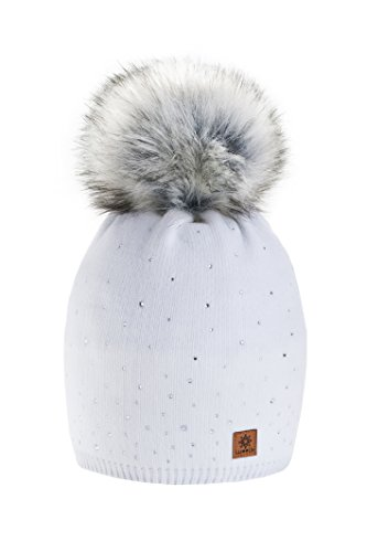 women-ladies-winter-beanie-hat-wool-knitted-with-small-crystals-large-fur-pom-pom-cap-ski-snowboard-