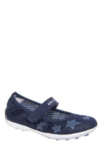 Geox Kid's Jr Jodie Denim Flat Shoe