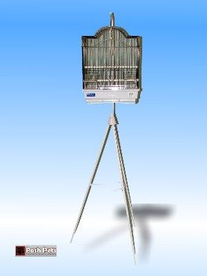 Cheap Dahak Black Farina Bird Cage And Black Tripod Stand Combination (201C2V)