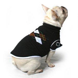 Argyle Dog Sweater-XS-