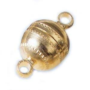 Magnetverschluß Kugelform Gr ca. 14mm Gold 2 Stk