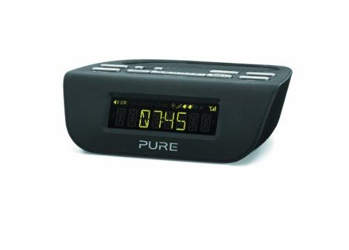 Pure VL-61776 Siesta Mi Serie II Radiowecker (DAB/DAB+/UKW-Tuner) schwarz