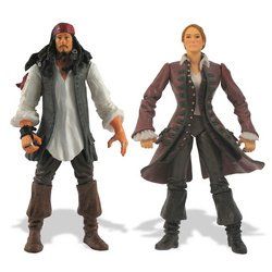 Buy Low Price Zizzle Pirates of the Caribbean: 3.75″ Jack Sparrow & Elizabeth Swan Figure 2-Pack (B000NZPZAC)