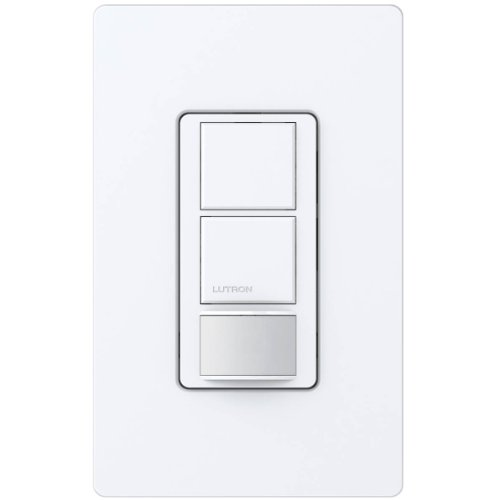 Lutron MS-OPS6-DDV-WH Maestro 6-Amp Single Pole Dual Circuit Occupancy Sensing Switch, White