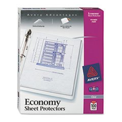 * Top-Load Poly Three-Hole Sheet Protectors, Economy Gauge,