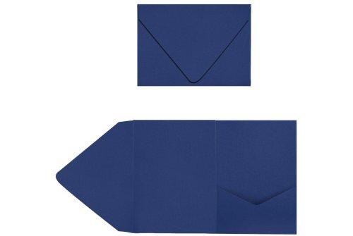 A7 Pocket Invitations - Navy (150 Qty.)