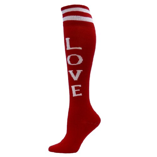 Red Lion Love Urban Word Sock ( Red / White - Medium )