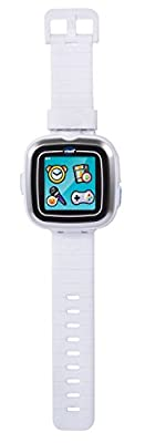 VTech Kidizoom Smartwatch Touchscreen w/ Camera, Rechargeable, Splash Proof Kids Watch Clock, White (Certified Refurbished)