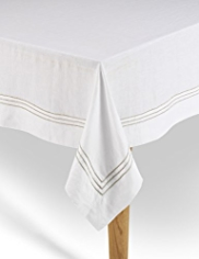 Pure Linen Stitch Tablecloth