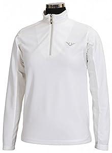 TuffRider Women's Ventilated Technical Long Sleeve Sport Shirt with Mesh, Black, 2X
