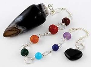 Black Onyx 7 Chakra Pendulum
