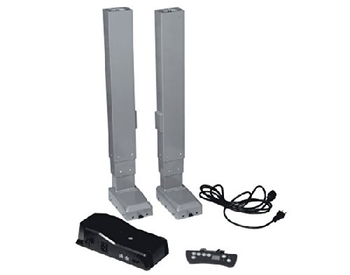 "Progressive Automations Dual Table Lift Set 25 Inch Stroke 350Lbs With Wired Remote; Speed 1.40"" Per Second"