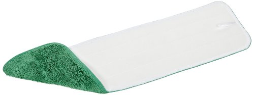 "Wilen Professional Cleaning Products Wilen C108018, Super Pro II Microfiber Flat Mop Refill, 18"" Length x 5"" Width, Green (Case of 12) at Sears.com"