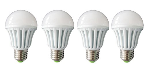 7W LED Bulbs (White, Pack of 4)