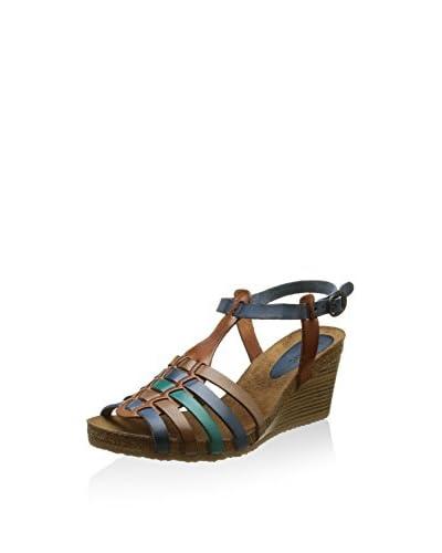 Kickers Sandalo Con Tacco  [Marrone/Blu]