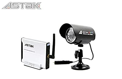 Astak 2.4GHz Wireless Color Security Surveillance Cameras Day/Night Vision Video IR Waterproof Cameras CCTV System with Receiver Box & CMOS Sensors, Built-in 12 infrared LED lights 25 feet (P/N: CM-818J)