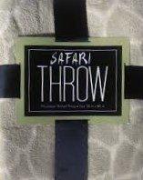 "Microplush, Safari Animal Print Blanket/Throw, Giraffe Print, Tan/Cream 50"" X 60"" front-452254"