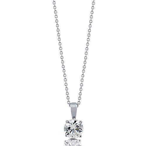 [ジュエリーキャッスル] Jewelry Castle ネックレス 0.85ct ラウンドブリリアント 一粒ネックレス CZダイヤモンド (キュービックジルコニア)