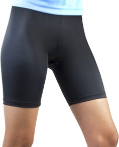 Women's Spandex Exercise Compression Workout Shorts Black Medium