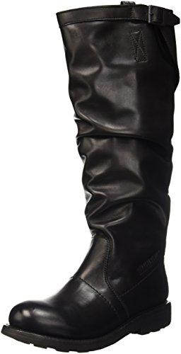 Bikkembergs Vintage 174 H.Boot W Dyed Leat, Scarpe a Collo Alto Donna, Nero, 41 EU