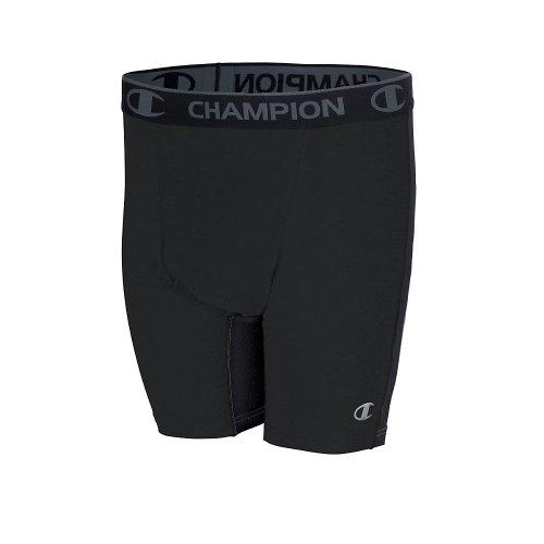 Hanes 87294 PowerTrain PowerFlex Men's Solid Compression Shorts Black Size - M