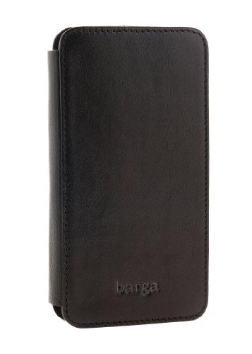 Special Sale Barga Cases Genuine Leather Wallet Case for Iphone 5 / 5S , Vegetal - Black