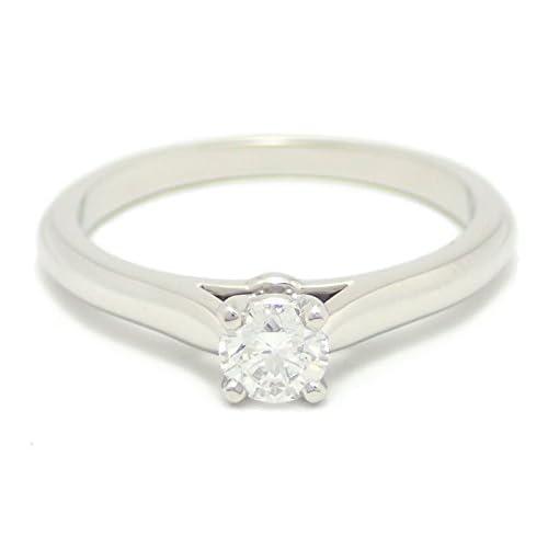 [カルティエ] Cartier ソリテール リング 指輪 Pt950 プラチナ ダイヤモンド 0.24ct VVS1 Fカラー Excellent #50 N4135950 [中古]