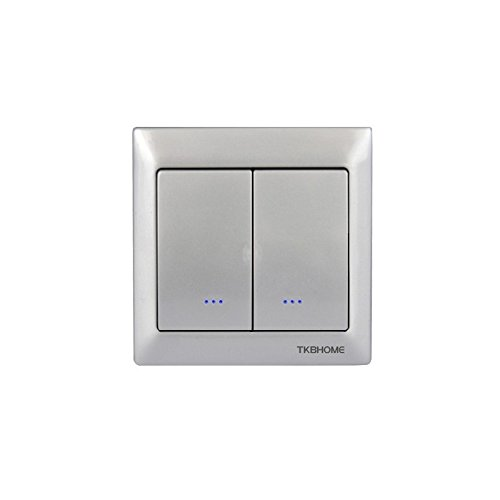TKB Home - Interrupteur ON/OFF double Z-Wave Argent
