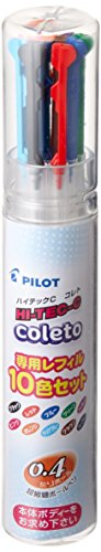 hi-tech-c-coleto-04mm-refill-10-color-set-lhkrf1sc410c-japan-import
