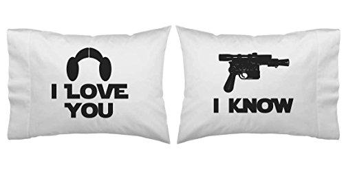 Star Wars Inspire I Love You, I Know Blaster Pillowcase Set