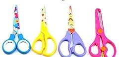 niceeshop(TM) Automatically Rebound Plastic Students Art Scissors,Color Randomly