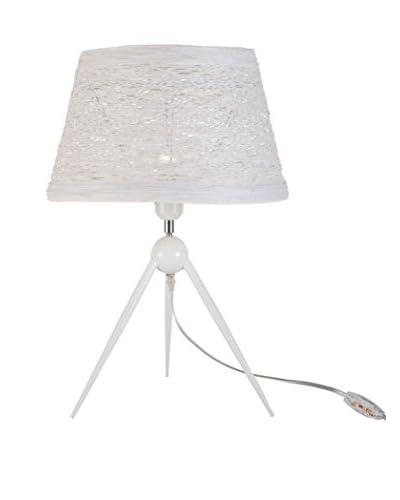 International Designs Orion 1-Light Table Lamp, White