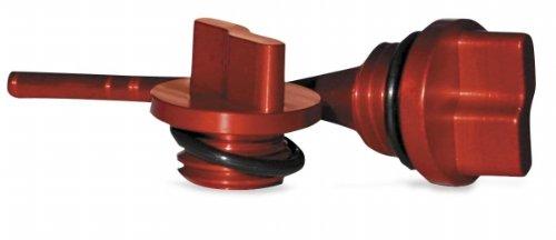 T.M. Designworks Oil Fill Plug - Red Aop-003-Rd