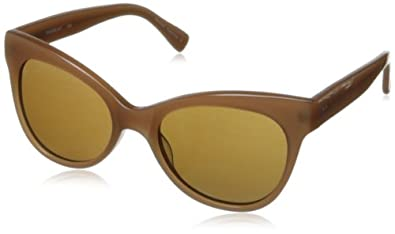 KAMALIKULTURE Women's Square Cat Eye Sunglasses Tan/Rown