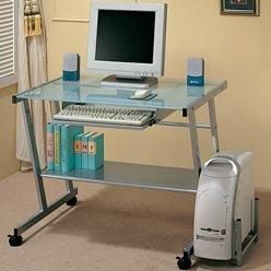 Buy Low Price Comfortable Contemporary Nickel Computer Workstation by Coaster (B0038OVOIM)