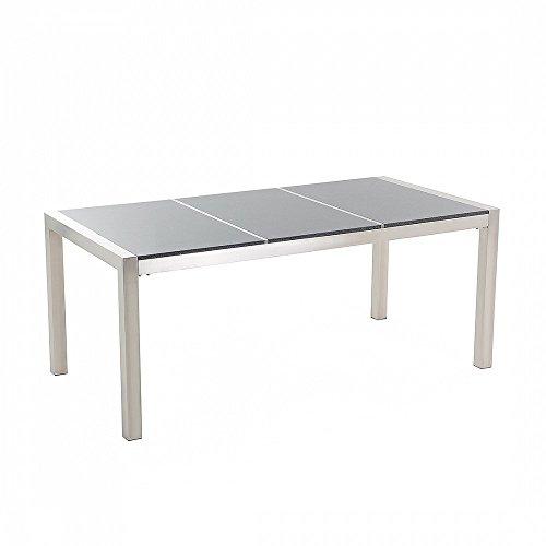 edelstahltisch 180 cm dreifach rostfrei granitplatte. Black Bedroom Furniture Sets. Home Design Ideas