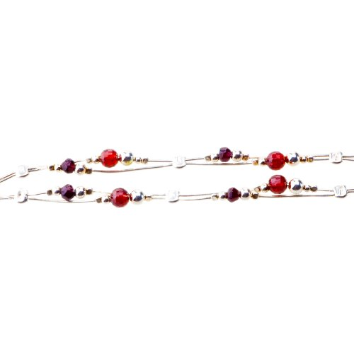 ANYA Entwined Natural Garnet and Zircon Necklace