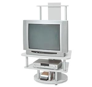 tv rack lupita in silber 360 grad drehbar k che. Black Bedroom Furniture Sets. Home Design Ideas