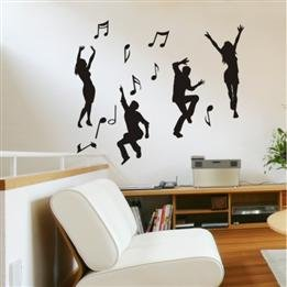 Home Decor Music Party Wall Sticker front-170513