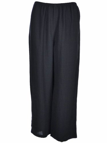 Elieen Fisher Pull On Cropped Pant Misses X-Small Black [Apparel]