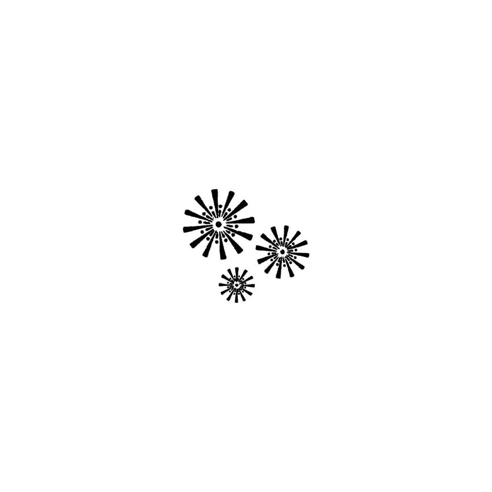 Penny Black Rubber Stamp 1.75X1.75 Sunburst; 3 Items/Order