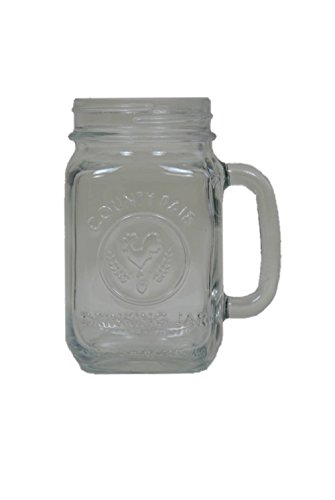Libbey County Fair 16.5-Ounce Drinking Jar with Handle, Set of 12 (Cheap Glass Cups compare prices)