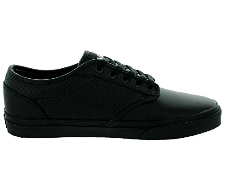 Vans slip on leather perf -  Vans Men S Atwood Perf Leather Black Black Skate Shoe 10 5 Men Us