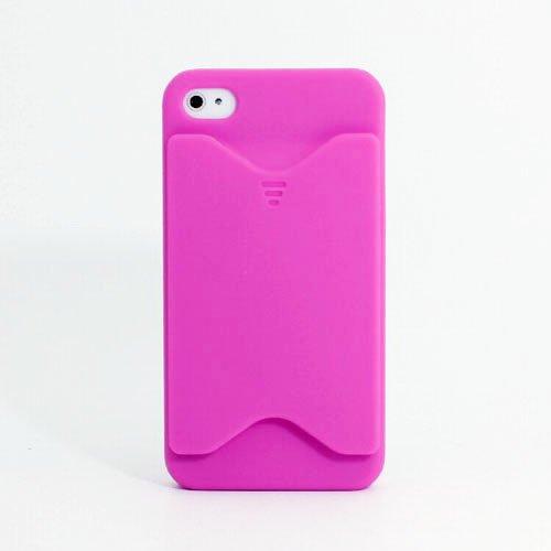 mobee SPIGEN SGP iPhone 4 4S / パープル / プラスティック カード ケース付 ケース ラバーコーティング