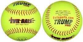 Buy 1 Dozen Evil Ball ASA 12 Softballs - 44cor .375 Compression (MP-EVIL-ASA-Y-2) HOT... by Trump/Evil Sports
